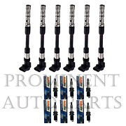 6 Ignition Coils And 6 Autolite Spark Plugs Replacement For 2001-2003 Vw Eurovan