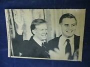 Vintage President Jimmy Carter And Colleague Wave To Audience Wire Press Photo