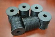 6 Rolls - 600 Meters Black Waxed Cotton Beading Cord String 1mm F-51g