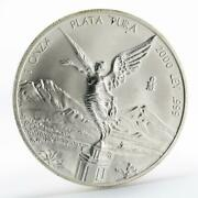 Mexico 1 Onza Winged Victory Silver Coin 2000
