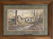 Robert A. Tino Limited Edition Framed Print 615/950 Mountains Country Creek