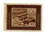 Germany Wwii Gg Generalgouvernement 10 Punkte Zigaretten Cigarette Ration Coupon