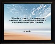 Aristotle If Happiness Is Poster Print Picture Or Framed Wall Art