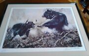 Bruce Matteson Wall St Bull/bear Le1678/2000 Framed And Matted Art Print 31x25