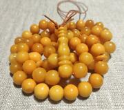 Antique Natural Baltic Amber Prayer Beads Butterscotch Misbaha Muslim Old Rosary