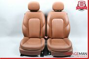 14-17 Maserati Ghibli Front Left And Right Complete Seat Cushion Assembly Brown