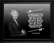 Thomas Jefferson If A Nation Poster Print Picture Or Framed Wall Art