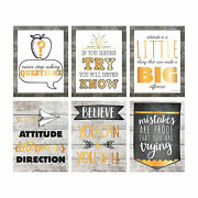 Rustic Classroom Posters - Educational - 6 Pieces
