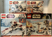 Lego Star Wars 4 Lot Set 8083, 8084, 8085, 7749 New And Sealed Retired Snow Sets