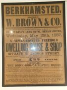 Berkhamsted W.brown And Co Dwelling House And Shop