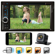 Sony Lens Camera + 6.2 Touch 2din In Dash Car Dvd Cd Player Radio Stereo Audio