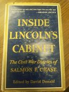 1954 Inside Lincoln's Cabinet Salmon P.chase,civil War First Edition,abraham,dj