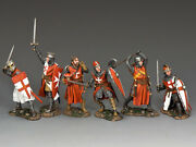King And Country Mk-s03 Crusader Knights Set 130 Medieval Metal Toy Soldiers