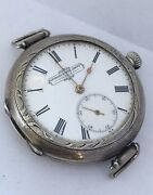 Rare Antique Unusual Hand-winding Trench Watch Signed Georges Favre-jacot