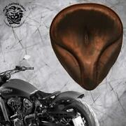 Solo Seat Indian Scout Since`17+mounting Kit+springs Oldt Vint Brown Electrix Xl