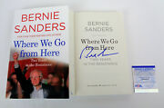 Bernie Sanders Signed Autograph Where We Go From Here 1st/1st Book Psa/dna Coa