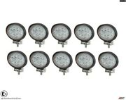 Ten Powerful 24w Led 5.6and039and039 Oval Led Work Lights 12v 24v For Lorry Trailer Cab E9