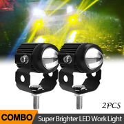 Led Work Lights 60w Dirt Bike Utv Motor Backup Driving Pods Round Spot Flood Atv
