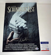 John Williams Schindlers List Signed Autograph Movie Poster Psa/dna Coa
