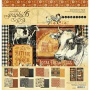 Farmhouse Collection Pack 12x12 Scrapbooking Kit Craft Graphic 45 4502059 New