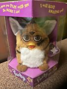 1998 First Edition Furby Brown With Black Stripes 70-800 With Tag, New In Box