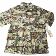 New Nwt Rare Toes On The Nose Microsoft Across America Button Down Shirt Men's S
