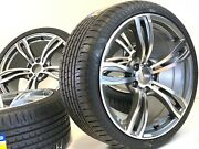 19 Stgd Rims Tires Wheels Fi Bmw 3-4-5-6-7 M6 Sport M-style Machined Gray 405