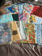 Vintage Lot Of Wrapping Paper 3 Lbs. 9 Oz. Total