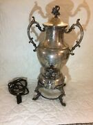 Antique Silver Plated Electrical Samovar 19