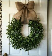 Urban Farmhouse 14 Boxwood Wreath French/country Cottage/ Rustic Decor