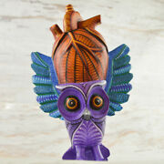 Owl Alebrije Masterpiece Oaxacan Wood Carving A2024 | Magia Mexica