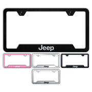 Name Stainless Steel Cutout Bottom License Plate Frame For Jeep - Augdp2288