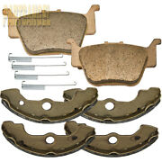 Front Brake Shoes And Rear Brake Pads For Honda Rincon 650 Trx650fa 2003 2004 2005