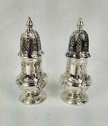 Vintage Silver Plate Corbell And Co. Salt And Pepper Shaker Set W/ Presentation Box