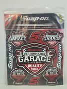Snap-on Perfomance Garage Reusable Wall Stickers New Sealed