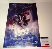 George Lucas Signed Star Wars The Empire Strikes Back Movie Poster Psa/dna Coa