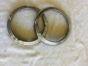 194619471948 Plymouth Stainless Headlight Rims