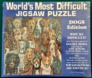 New Worldand039s Most Difficult Jigsaw Puzzle 529 Piece Double Sided Dogs Sealed