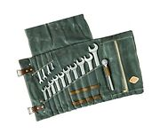 Large Tool Roll Bag, Heavy Duty Waxed Canvas Wrench Tool Pouches,wrench/plier...