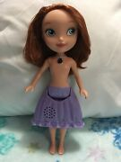 Talking Sofia The First Doll With Batteries Amulet Lights Up