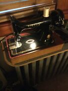Vintage 1955 Portable Singer Sewing Machine In Case W/ Book And Acces.