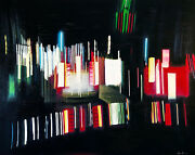 Alex Nizovsky Andndash Nocturne 1 Tailligts Abstract Art Usa Acrylic Painting 48x60