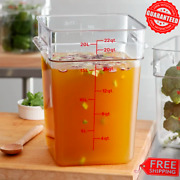 Large Camwear Clear Container 22 Quart Capacity Food Storage Cambro 22sfsp135