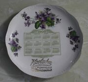 1909 Calendar Plate From Horlacher 9 Month Old Perfection Beer