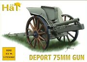 Hat 1/72 Wwi Deport 75mm Gun Artillery Set 8242 New