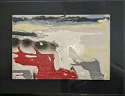 Original Abstract Mixed Media Painting By Paola Romano 2008 Signed 15.5 X 11.5