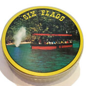 Six Flags Round Playing Cards Theme Park Souvenirs Made In Hong Kong
