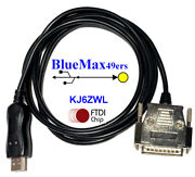 Cnc Dnc Usb To Db-25 Male Ftdi Cable Software Flow Control Cnc-sw-25m 100 Ft