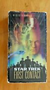 2 Vhs Tapes Star Trek First Contact And Insurrection 3-d Chromium Cover