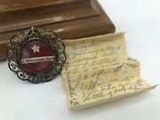 Antique Reliquary - St. Wenceslas Religious Relic With Hidden Letter Of Miracle